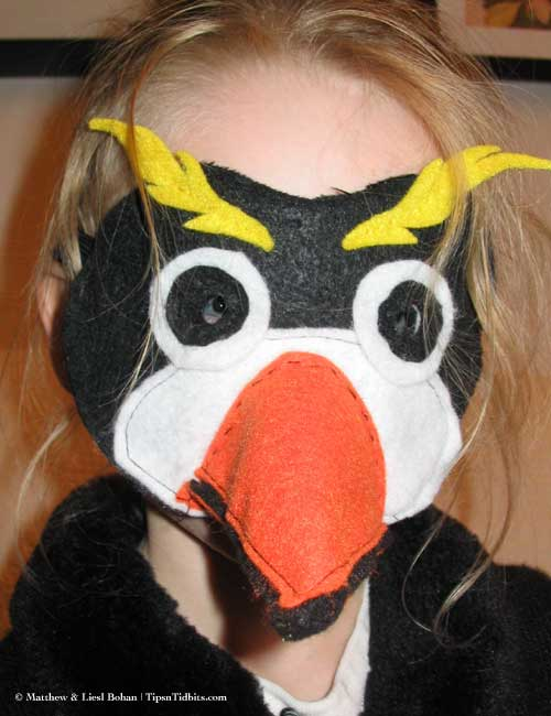 Kelly's Felt Penguin Mask